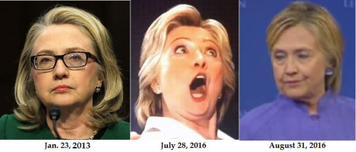 Hillary Clinton before & after