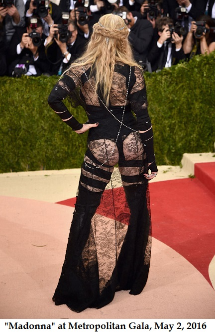 Madonna is ashamed...